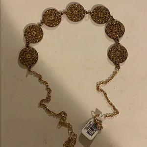 Gold necklace new with tags
